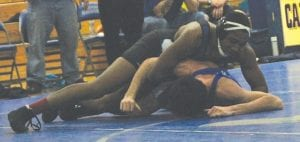 Tae Pendleton went 5-0 at 171 pounds in the Montrose Holiday Tournament.