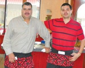 Nicolas Zaragoza, right, with his brother Jose at his new El Ranchero Authentic Mexican Restaurant in the Lincor Plaza.