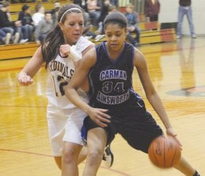Aliah Stinnett and the Carman-Ainsworth girls' basketball team traveled to future conference foe Saginaw on Monday, falling to the Trojans, 70-47. The Lady Cavs also fell on Friday in Big Nine action to Flushing, 63-44. Both sets of game stats were not reported by press time.