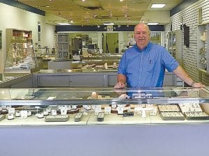 Jim Stark, owner of Creative Jewelers, is celebrating his 30th year in business including about 18 at the Lincor Plaza in Flint Township.