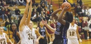 Kapri Thompson has also been a force for the Lady Cavaliers on the road this season, as witnessed in this game at Davison earlier in the year.