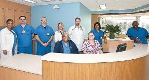 Staff at new Hurley Paul F. Reinhart Emergency Trauma Center.