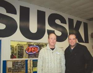 Phil Goldman (left) and Ed Usewick of Suski Chevrolet Buick in Birch Run.