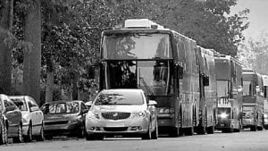 """One of two new Buick Verano TV commercials is called """"Tour Bus,"""" a 30-second spot that highlights Verano's IntelliLink infotainment system. The GM car is featured on NBC's """"Celebrity Apprentice."""""""