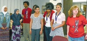 Students recognized for their winning efforts in HOSA regional competition.