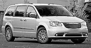 2012 Chrysler Town & Country minivan.