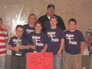 The Bible quiz team of Higher Praise Church in Swartz Creek.