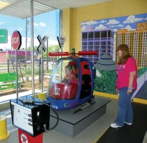 "The Flint Children's Museum features a Smart Mart where children can take a ""flight"" in a police helicopter."