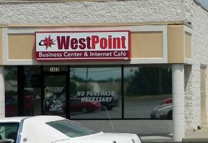 WestPoint Business Center & Business Cafe was closed following a charge of illegal gambling.