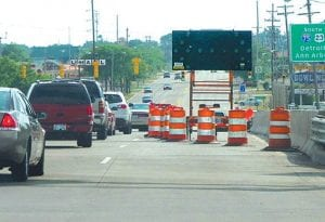 Lane closures on Miller Road continue to keep traffic backed-up.