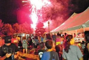 Crowds were out, beating the heat and waiting for the fireworks show at the Our Lady of Lebanon Mid-East Festival on Saturday night.