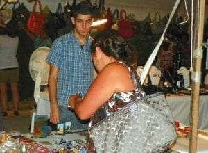 Vendors tent included jewelry, purses and other wares for purchase at the Our Lady of Lebanon Mid-East Festival last weekend.