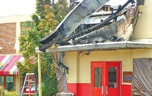 Restoration crews were on the scene Monday morning at Don Pablos restaurant after a fire there on Sunday.