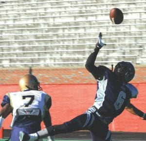 Fury cornerback Lonnie Johnson hauls in an interception.