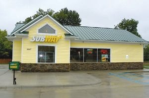 The newly built Subway on Beecher Road is the only fast-food eatery for miles in any direction.
