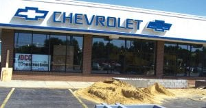 Simms Chevrolet will get a new uniform look which includes the showroom, service lane and retail parts area.