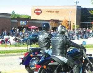 Thousands of motorcyclists turned out on a clear and sunny Saturday afternoon at the Vehicle City Harley Davidson motorcycle dealership to participate in the 6th annual Bikes on the Bricks police-escorted motorcycle ride. The 54-mile ride route headed north through Genesee County and up into Saginaw County before circling around to end in downtown Flint where Bikes on the Bricks activities are held. Proceeds from the rides support charities with children's programs.