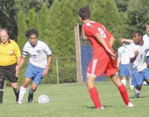 Anas Morsi looks for an opening in a game earlier this season.