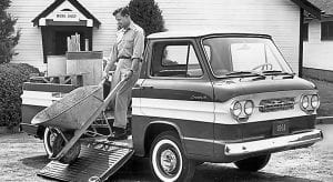 1961 Chevrolet Corvair Ramp- side truck