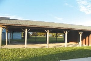 This is the existing pavilion at the Flint Township Senior Citizen Center.