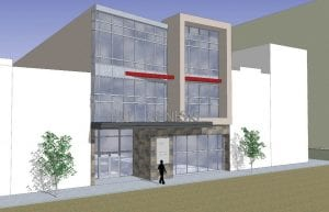 An artists depiction of the proposed Genesys Downtown Health Center, scheduled to be opened in July 2013.
