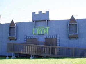 The Crypt is located on South Dort Highway. The haunted house has been open for 13 years this year.
