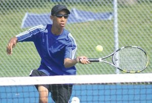 No. 2 Singles player Chris Crowder is one of 10 underclassmen in the Cavs' lineup.