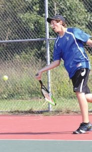 Noah Reed was ousted at No. 1 Singles by Saginaw Heritage at regionals.