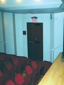The Whiting, built in 1967, is said to be haunted by ghosts. Activity at the theater has increased so much in recent years, a group of paranormal investigators looked into the reports three years ago.