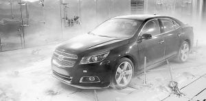 The 2013 Chevrolet Malibu Turbo endures sub- zero conditions in the GM Climatic Wind Tunnel.