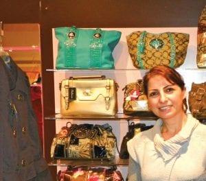 Misreen Abu Farha, at her new mall boutique AIJ Fashions.