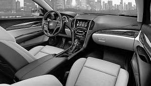 The plush, quiet interior of the new 2013 Cadillac ATS sport sedan