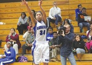 Aliah Stinett (#34) returns this season to play for the Carman-Ainsworth varsity girls' basketball squad.