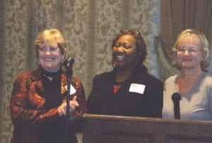 From left, Beverly Leek, president of Genesee County MARSP, Laura Rahmaad, director of the Meals on Wheels program, and volunteer coordinator Suzanne Hinkinson.