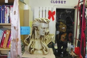 King of Rock and Roll and Godfather of Soul collectibles are among the treasures currently for sale at Grandma's Closet resale shop.