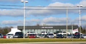 Hundreds of used vehicles are already on site awaiting the opening of Jim Waldron dealership on MIller Road next year.