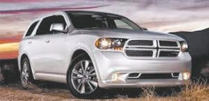 The 2013 Dodge Durango, one of five Chrysler Group vehicles selected as a Consumer Guide 'Best Buy'