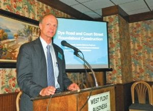 One of the many speakers to appear before the West Flint Business Association in 2012.