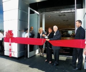 A ribbon-cutting was held to mark the grand reopening of Patsy Lou Williamson's Linden Road dealership in 2012.