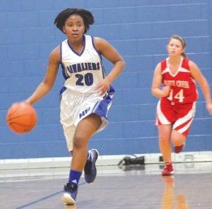 Bianca Jackson leads a fast break in a Nov. 29 game.