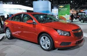 2013 Chevrolet Cruze Clean Turbo Diesel on display at the Chicago Auto show