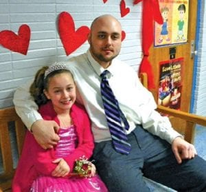 Joe Gamache and Gabrielle Gleeson, 8, at the Daddy/Daughter, Mother/Son dance.