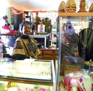 Shoes, purses, clothing, jewelry and some housewares are sold at N'dapanda Consignment Shop at Flushing and Linden roads.