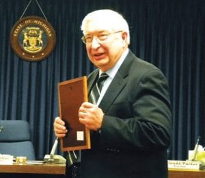 Richard Ruhala received special recognition from the township board for his service in several capacities, most recently on the planning commission.
