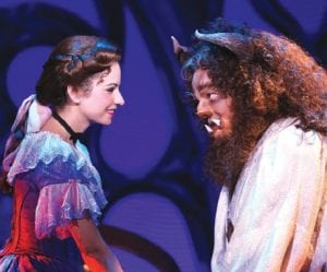 Belle and the Beast from Disney's Beauty and the Beast at The Whiting, May 18-19.
