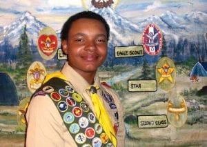 Haywood James Petty, a 10th-grader at Carman-Ainsworth High School will receive his Eagle Scout award in a May 11 ceremony at Flushing Valley Country Club.