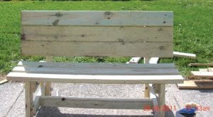 Local Eagle Scout Haywood James Petty designed and built these park benches as part of his Eagle Scout project.