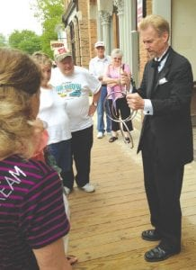 A magician entertained seniors at Senior Power Day May 22. The event drew 2,000-3,000 people.
