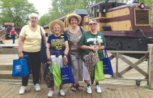 (Left to right) JoAnn Perigo, Odile Aagesen, Ellen Ellenburg and Mary Guerriere attended Senior Power Day at Crossroads Village May 22.