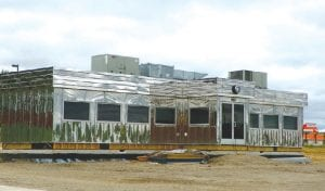 Retro diner has arrived to anchor tourist attraction planned for Vehicle City Harley-Davidson dealership on Miller Road.